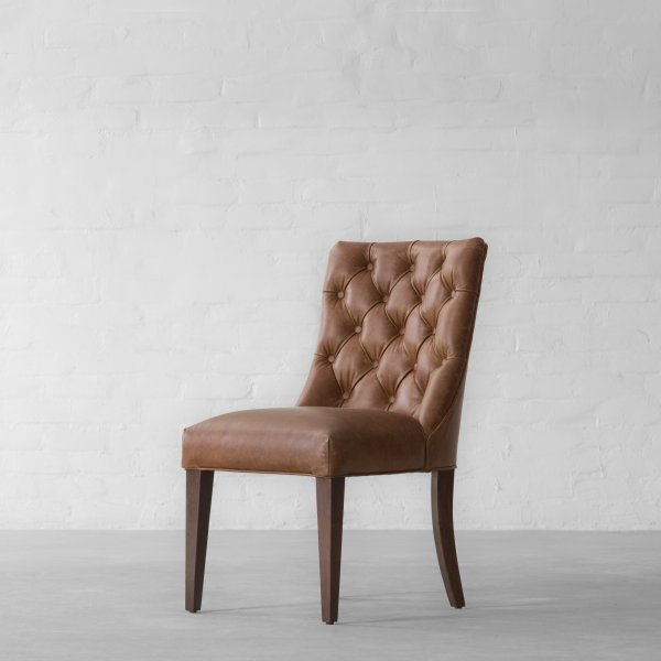 MIAMI SPRINGS LEATHER DINING CHAIR 5