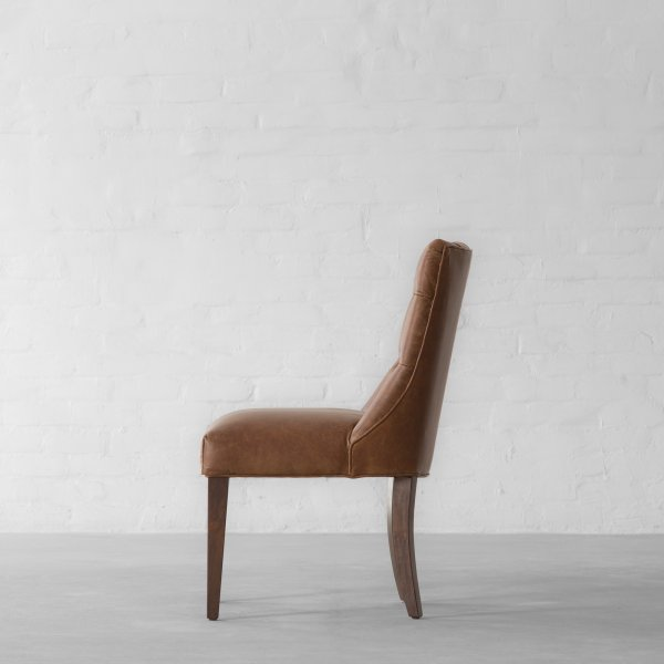 MIAMI SPRINGS LEATHER DINING CHAIR 4