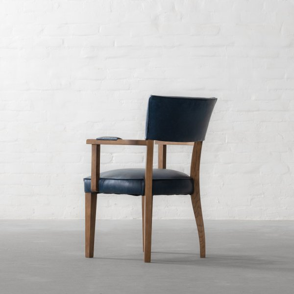 MILTON LEATHER DINING CHAIR - WITH ARMS 5