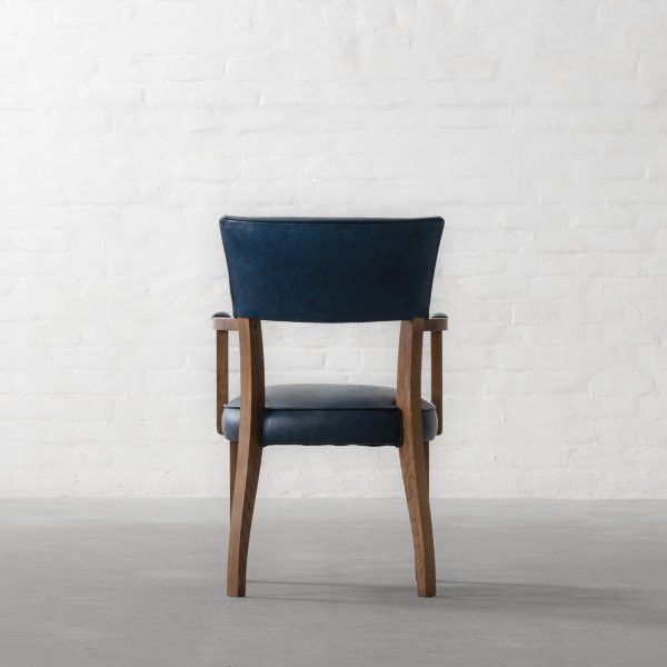 MILTON LEATHER DINING CHAIR - WITH ARMS 6