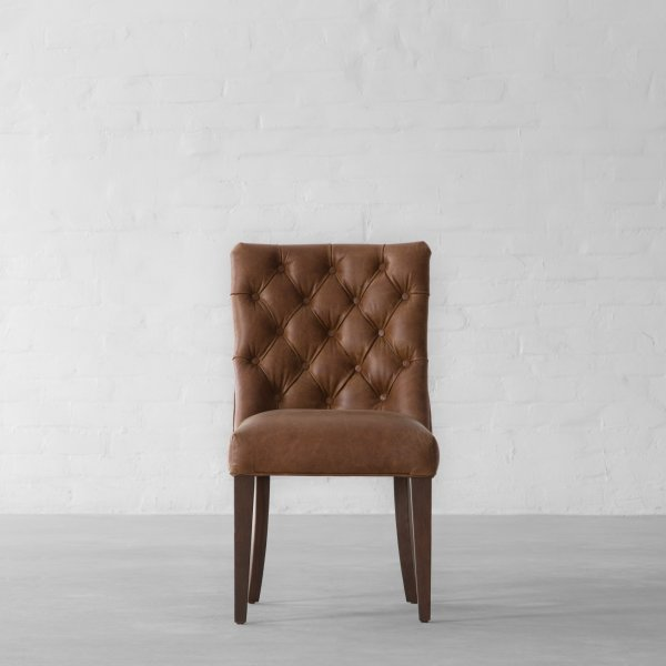 MIAMI SPRINGS LEATHER DINING CHAIR 1