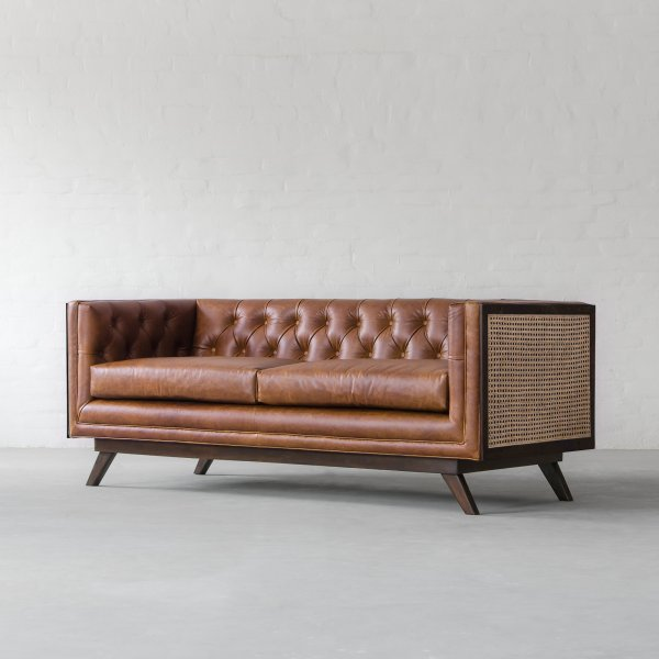 HOLLYWOOD RATTAN LEATHER SOFA COLLECTION 1