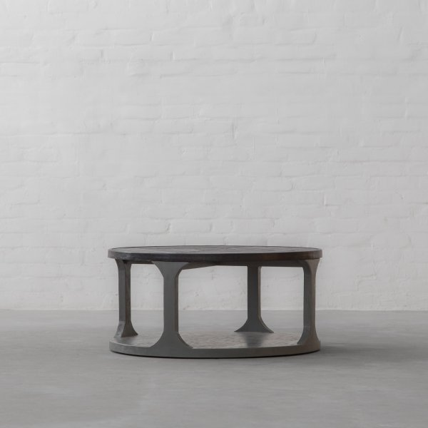 NEWCASTLE LEATHER CLAD COFFEE TABLE 2