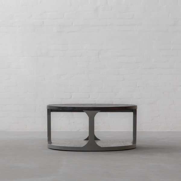 NEWCASTLE LEATHER CLAD COFFEE TABLE 1
