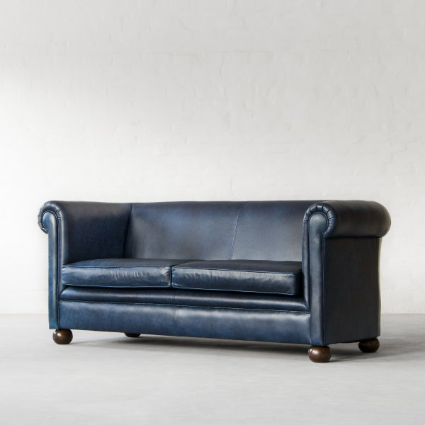 INDIANA CHESTERFIELD LEATHER SOFA COLLECTION 5