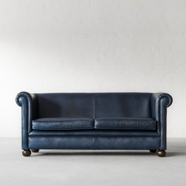 INDIANA CHESTERFIELD LEATHER SOFA COLLECTION 1