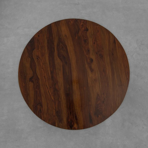 WINLOCK LEATHER CLAD DINING TABLE 4