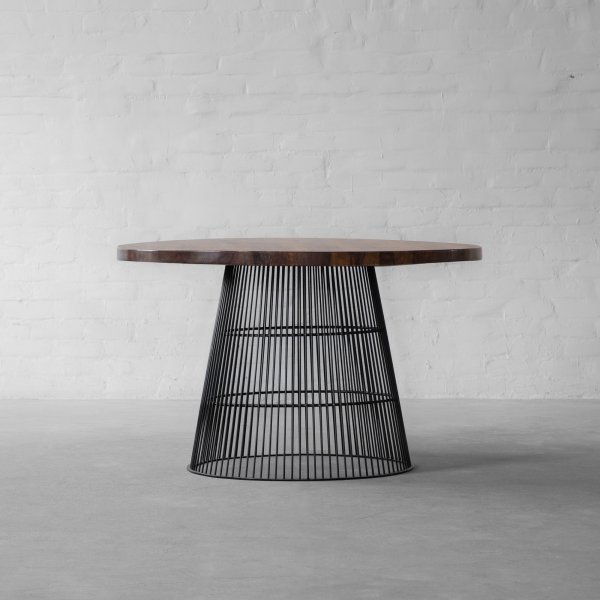 WINLOCK LEATHER CLAD DINING TABLE 1