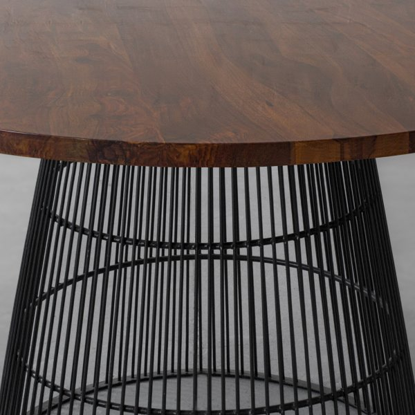 WINLOCK LEATHER CLAD DINING TABLE 3