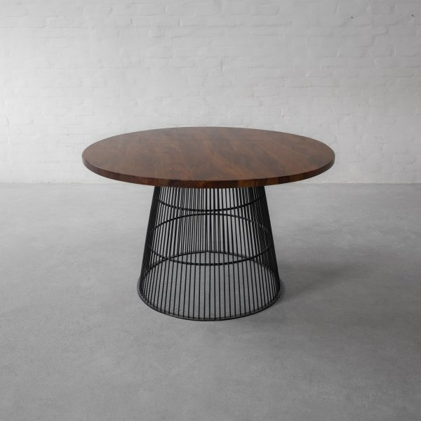 WINLOCK LEATHER CLAD DINING TABLE 2