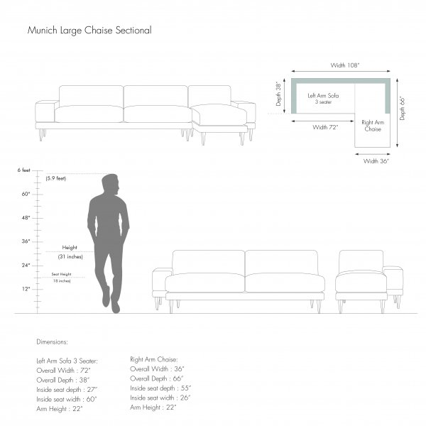 LARGE CHAISE SECTIONAL - MUNICH 6