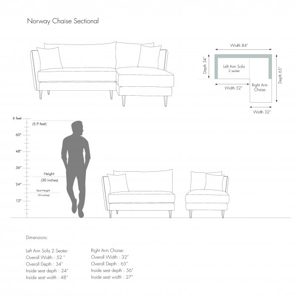 IRELAND L SHAPE CHAISE SECTIONAL 3
